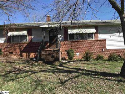 Greenville SC Single Family Home For Sale: $82,000