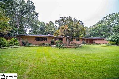 Spartanburg Single Family Home For Sale: 1340 Pinecrest