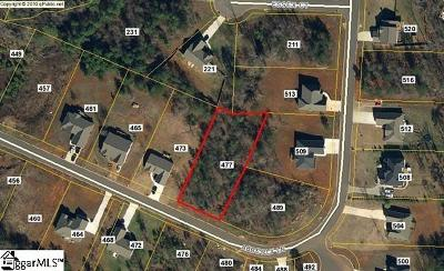 Boiling Springs Residential Lots & Land For Sale: 477 Abberly