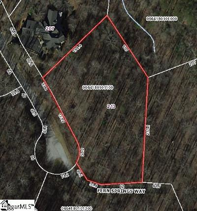Travelers Rest Residential Lots & Land For Sale: 213 Fern Springs