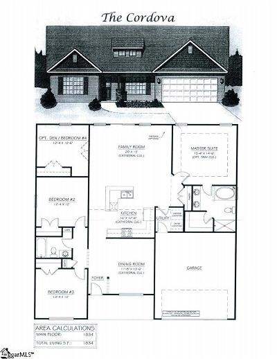 Anderson Single Family Home For Sale: Linmar #Lot 54