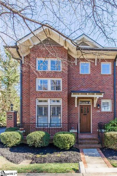 Greenville County Condo/Townhouse For Sale: 230 Butler