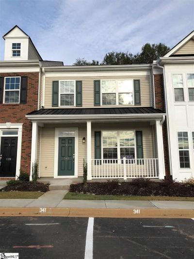 Greenville County Condo/Townhouse For Sale: 341 Intrepid #Lot 42