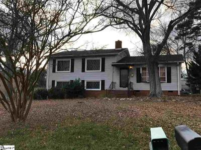 Greenville Single Family Home Contingency Contract: 212 Bear