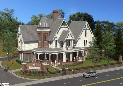 Greenville Single Family Home For Sale: Augusta Walk #Lot 1