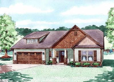 Travelers Rest Single Family Home For Sale: 408 Skyway #Lot 35