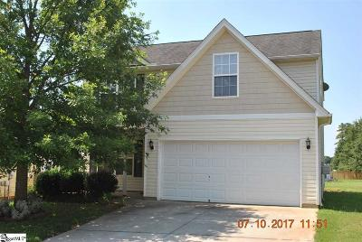 Simpsonville Single Family Home For Sale: 2 Parkgate