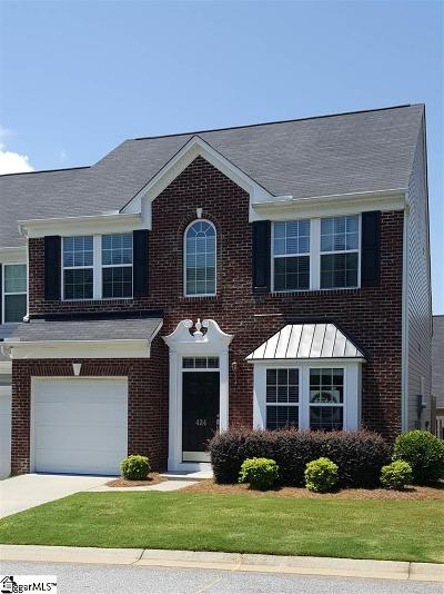 Greenville County Condo/Townhouse For Sale: 424 Cedar Pines