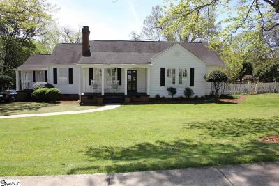 Greenville County Single Family Home For Sale: 24 Mount Vista