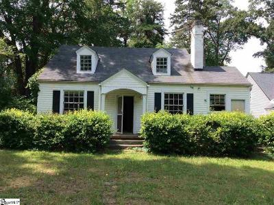 Greenville County Single Family Home For Sale: 7 Douglas
