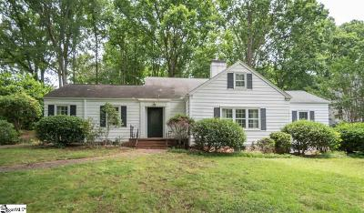 Greenville County Single Family Home For Sale: 111 Sylvan