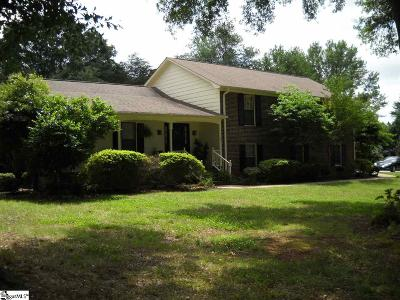 Greenville County Single Family Home For Sale: 101 Sugar Creek