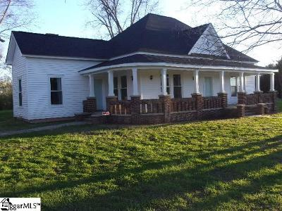 Pelzer Single Family Home For Sale: 1041 Cherokee