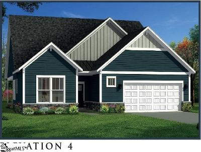 Spartanburg Single Family Home For Sale: 350 Serendipity #Lot 29