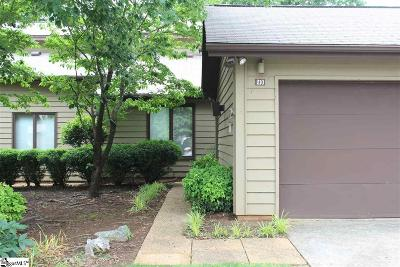 Greenville County Condo/Townhouse For Sale: 210 Goldfinch