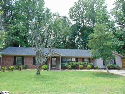 Greenville County Single Family Home For Sale: 106 Bransfield