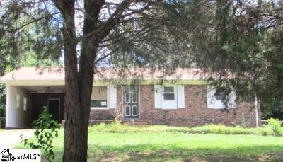 Spartanburg Single Family Home For Sale: 210 Wardlaw