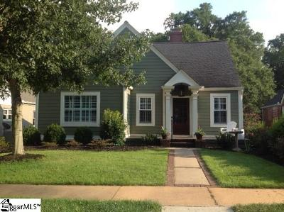 Greenville County Single Family Home For Sale: 604 Crescent