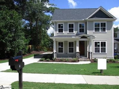 Greenville County Single Family Home For Sale: 6 Croft