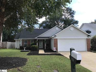 Greenville County Single Family Home Contingency Contract: 10 Glen Willow