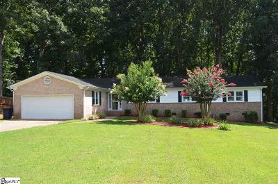 Simpsonville Single Family Home For Sale: 1502 Brentwood