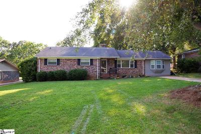 Greenville County Single Family Home For Sale: 3 Vista