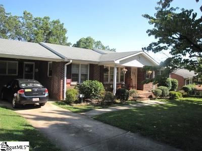 Spartanburg Single Family Home For Sale: 538 Pierpont