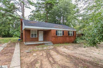 Greenville SC Single Family Home For Sale: $45,000