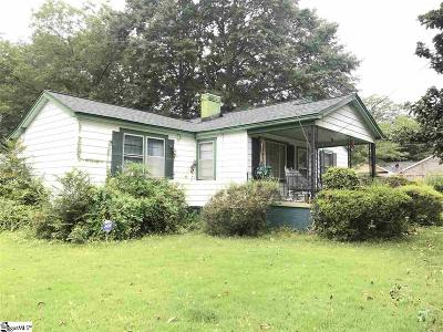 Greenville SC Single Family Home For Sale: $79,900