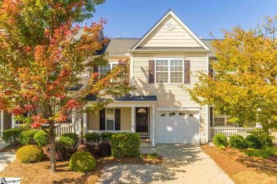 Greenville County Condo/Townhouse For Sale: 110 Pine Walk