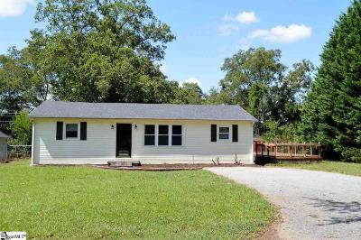 Spartanburg Single Family Home Contingency Contract: 412 Ridgecrest