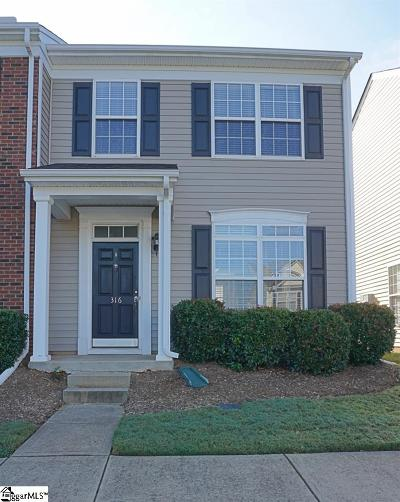 Greenville County Condo/Townhouse For Sale: 316 Cumulus