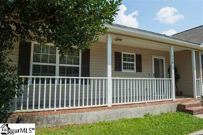 Spartanburg Single Family Home For Sale: 114 Trout