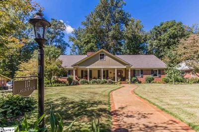 Greenville Single Family Home Contingency Contract: 117 Lakecrest