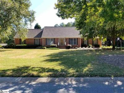 Spartanburg Single Family Home For Sale: 1215 Shadowood