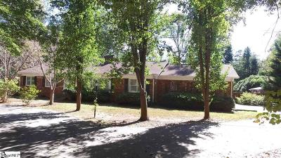 Spartanburg Single Family Home Contingency Contract: 108 Pine Acres