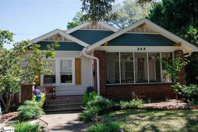 Greenville Single Family Home Contingency Contract: 312 Wilton