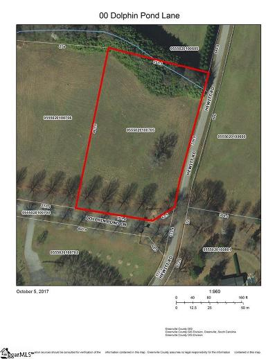 Fountain Inn Residential Lots & Land For Sale: Dolphin Pond