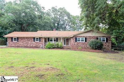 Spartanburg Single Family Home For Sale: 2217 Edgefield