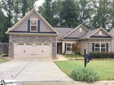 Simpsonville Single Family Home Contingency Contract: 300 Applehill