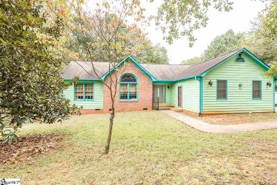 Spartanburg Single Family Home For Sale: 138 Woodcreek