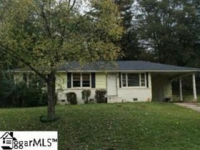 Greenville SC Single Family Home For Sale: $65,000
