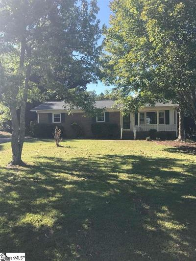 Greer Single Family Home For Sale: 394 Gail