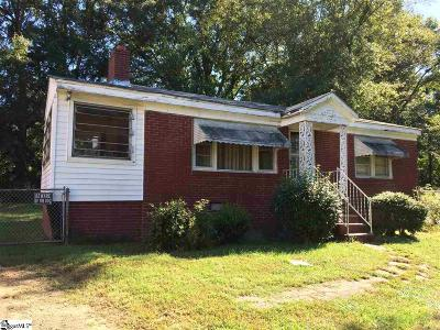 Greenville SC Single Family Home For Sale: $49,900