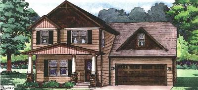 Greenville County Single Family Home For Sale: 2 Hampton Farms #Lot 138