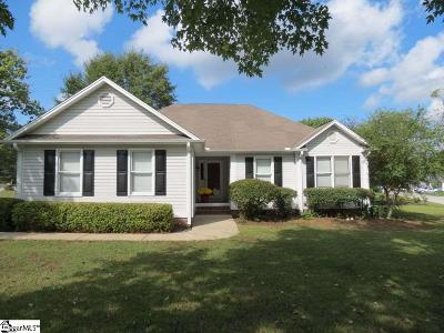 Fountain Inn Single Family Home Contingency Contract: 301 Frostberry