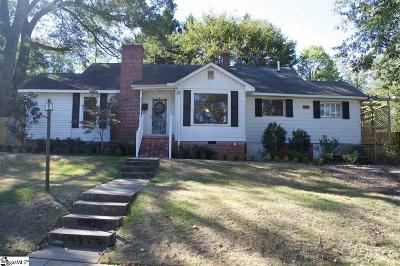 Greenville County Single Family Home For Sale: 115 Hawthorne