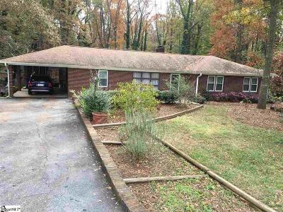 Spartanburg Single Family Home For Sale: 114 Hillbrook