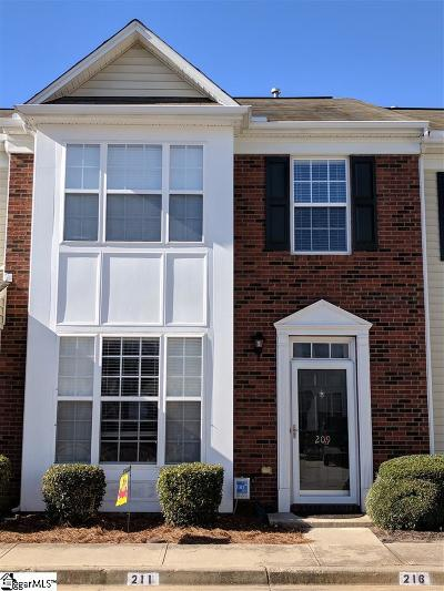 Mauldin Condo/Townhouse For Sale: 209 Bedwin