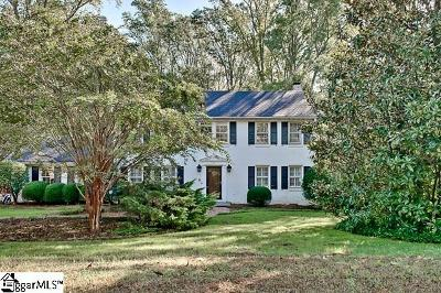 Spartanburg Single Family Home For Sale: 229 Hillbrook